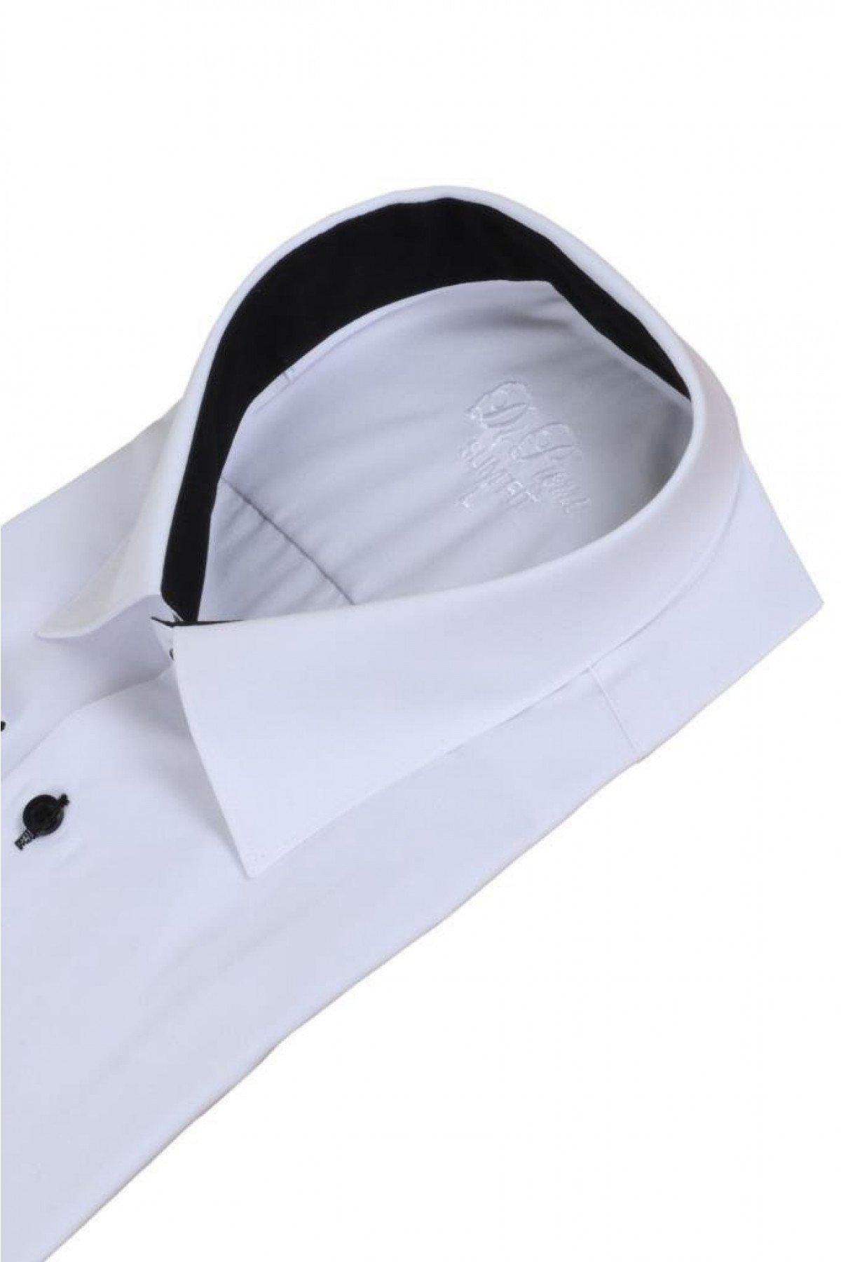 Erkek Beyaz Gömlek Dar Kesim Uzun Kollu RAR00726