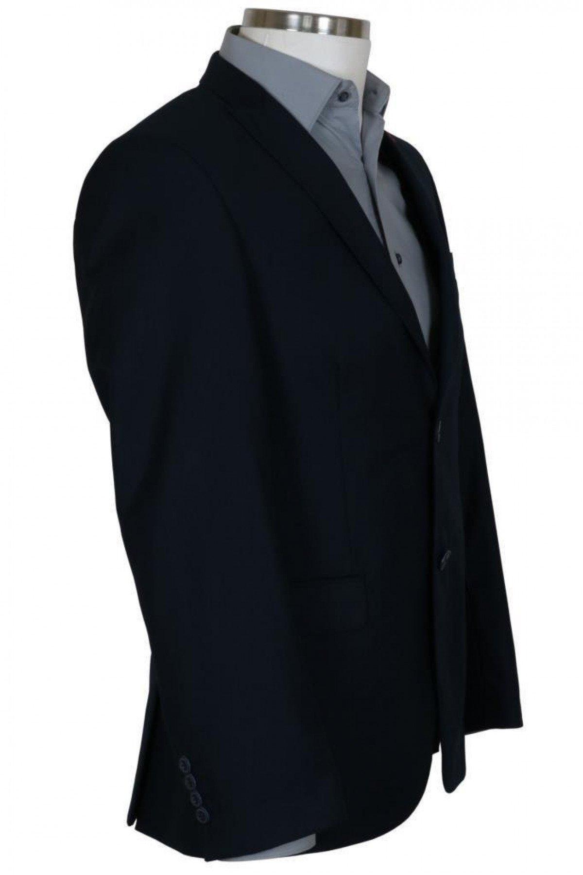 Erkek Lacivert Takım Elbise Yelekli Dar Kesim RAR00699