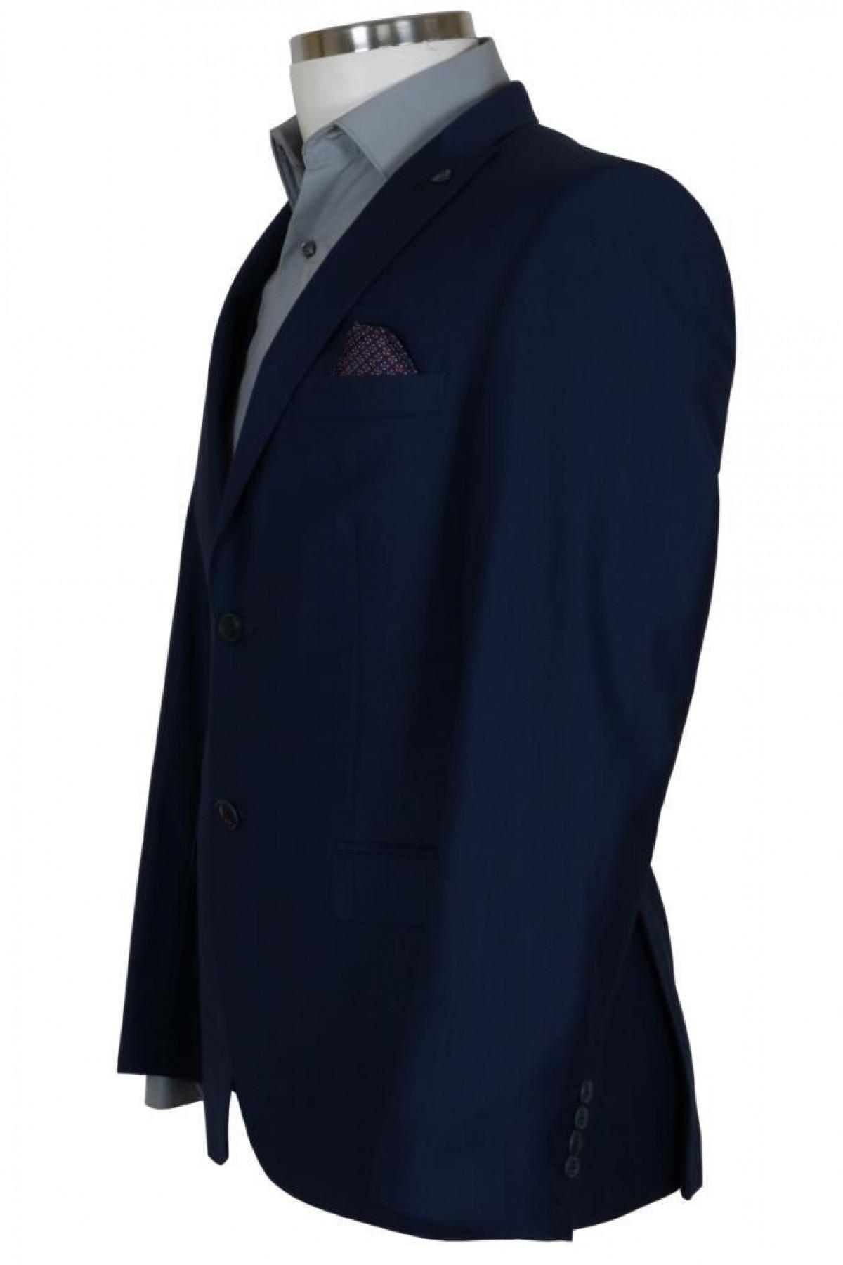 Erkek Lacivert Takım Elbise Yelekli Dar Kesim RAR00700