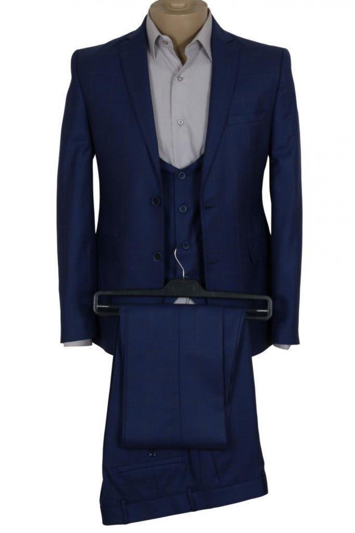 Erkek Takım Elbise Yelekli Dar Kesim RAR00687