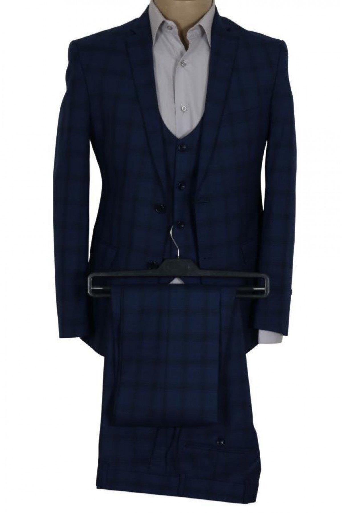 Erkek Takım Elbise Yelekli Dar Kesim RAR00688