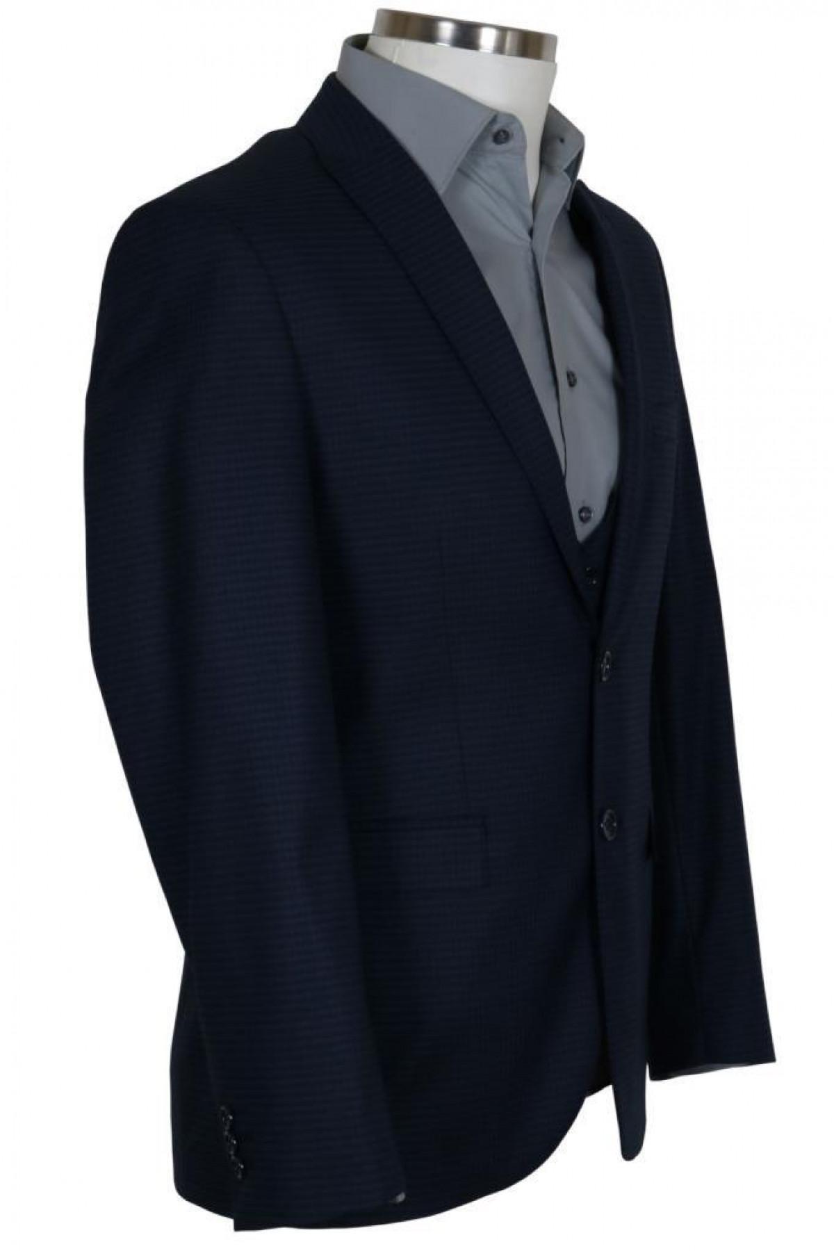 Erkek Takım Elbise Yelekli Dar Kesim RAR00696
