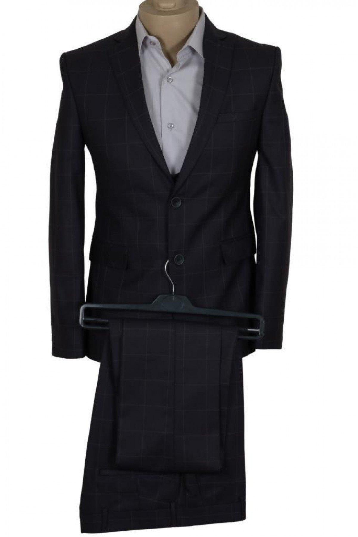 Erkek Takım Elbise Yelekli Dar Kesim RAR00703